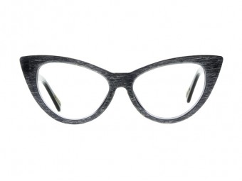 CAT EYE Black wood frame