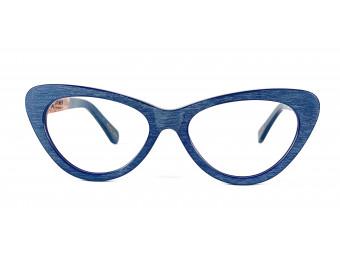 CAT EYE BLUE Wood frame