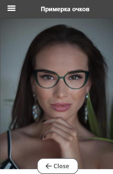 виртуальная примерка очков по фото на лице